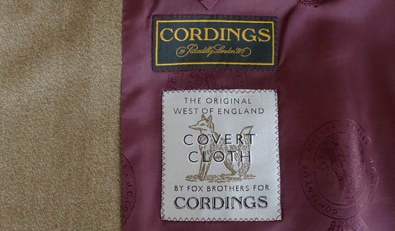 Cordings Covert Coat Interior
