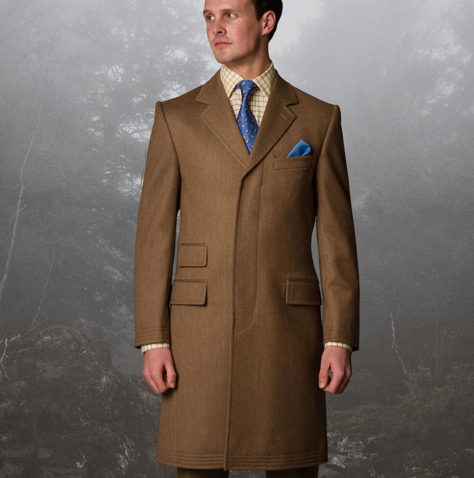 The Cordings Covert Coat