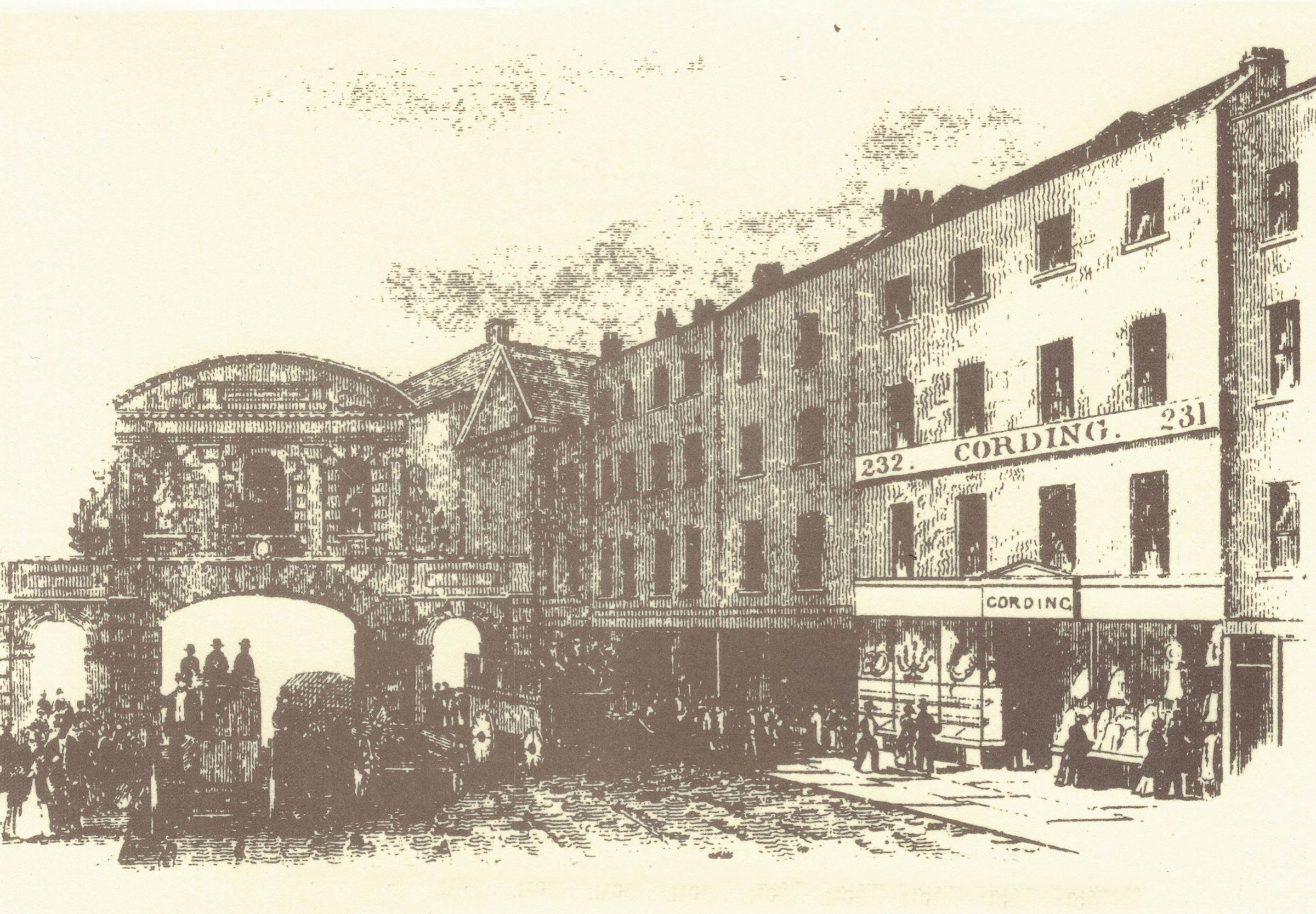 Cordings in The Strand in 1839