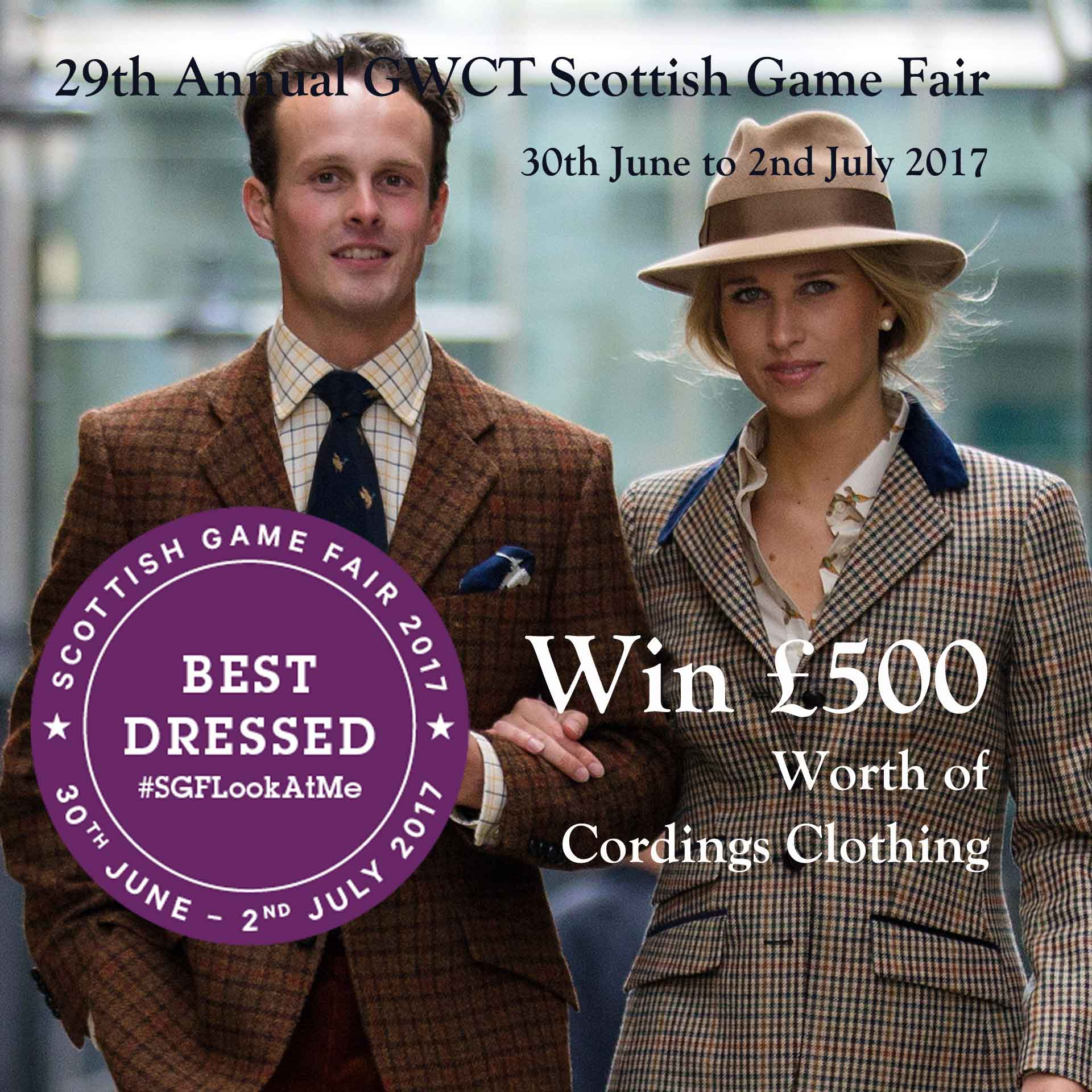 Win £500 of Cordings clothing at The Scottish Game Fair