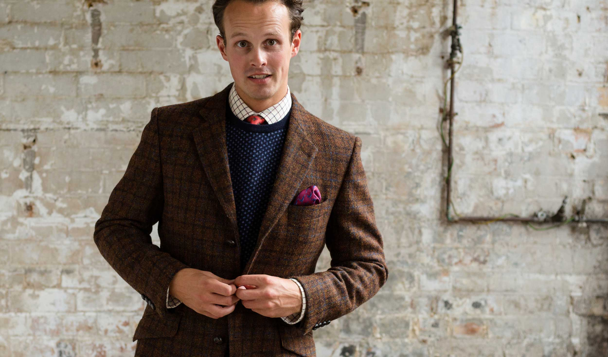 Traditional British Harris tweed Jacket