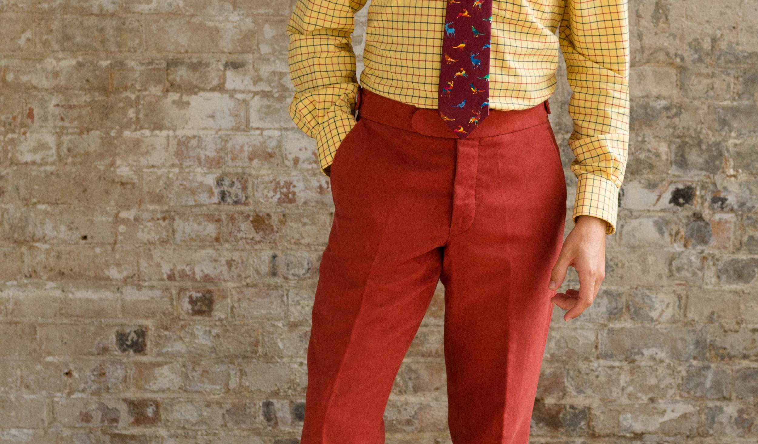 British Red Rest Moleskin Trousers