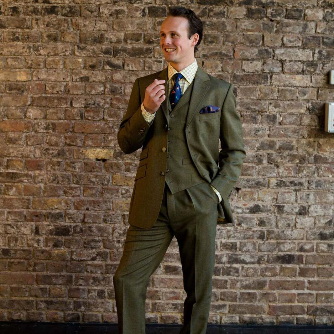 3 PIECE ELLAND TWEED SUIT