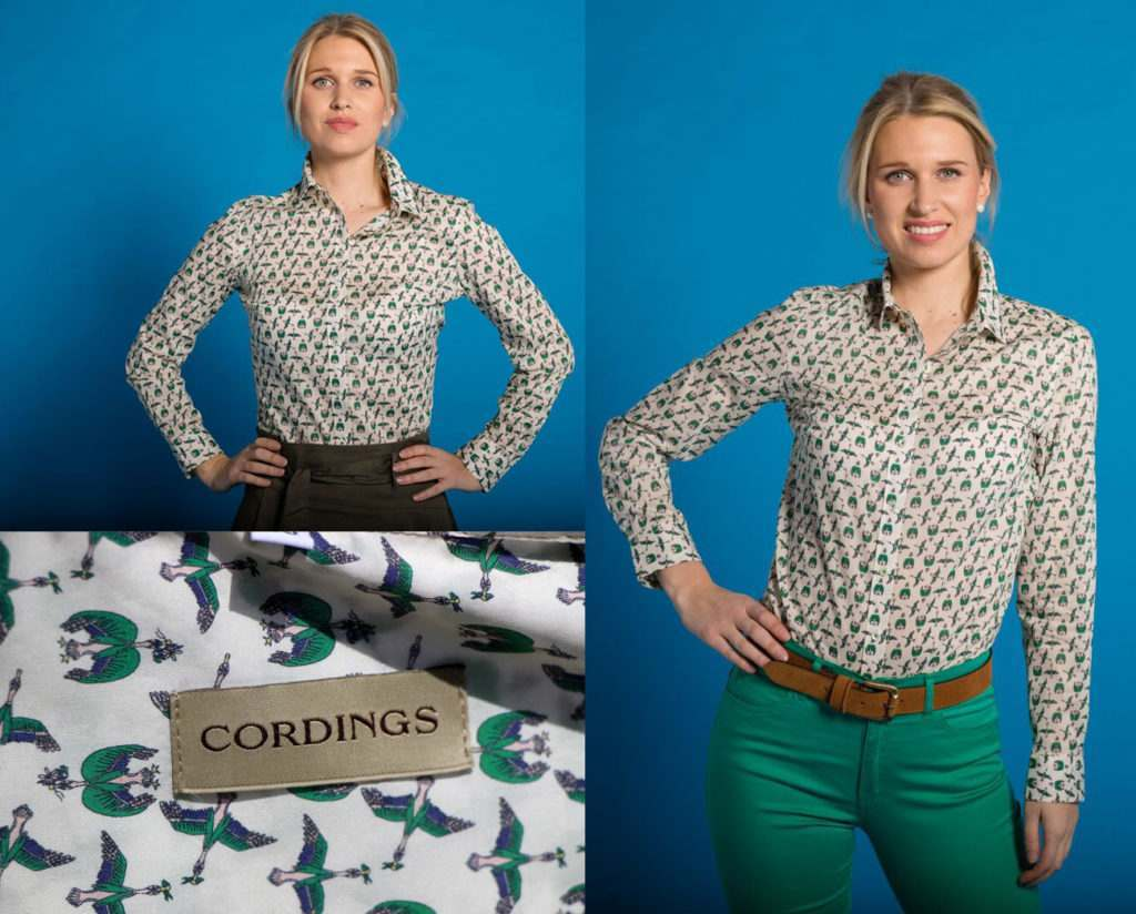 Ladies liberty crescendo birds shirt with cotton jeans and skirt