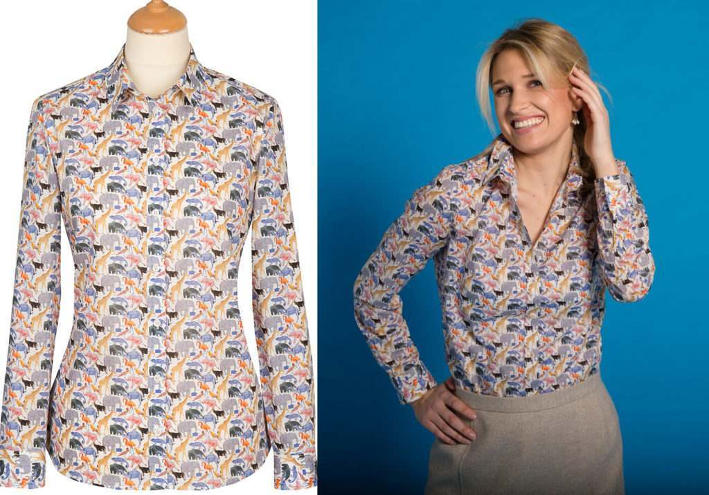 Liberty Print Shirt with Zoo Animals