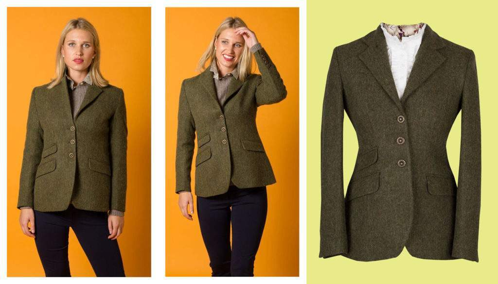 T.ba dark green tweed ladies jacket from Cordings