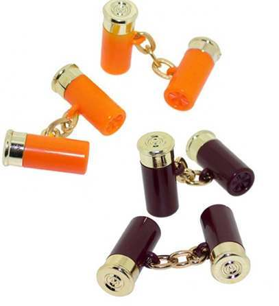 Orange Cartridge Shooting Cufflinks