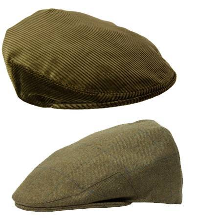 Green Brown Tweed Cord Hats