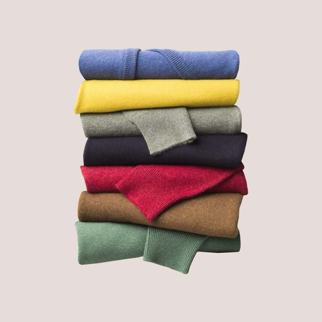 Luxurious British lambswool jumpers in a variety of colours