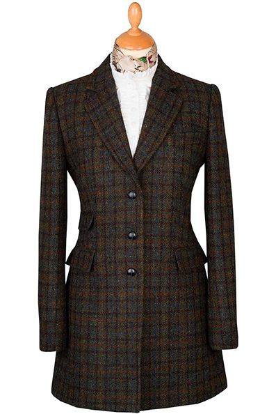 Ladies Harris Tweed Check Coat