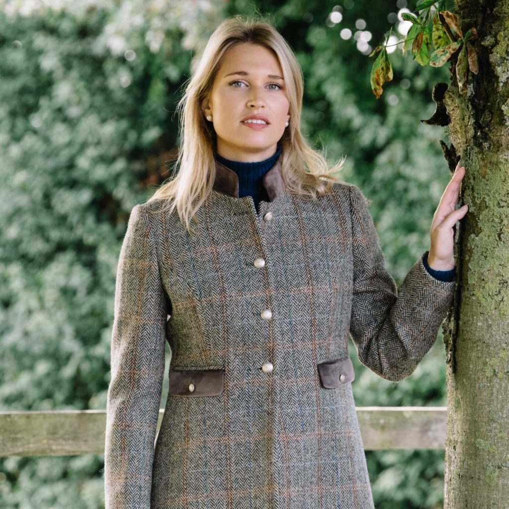 Stylish British Lady wearing Tweed