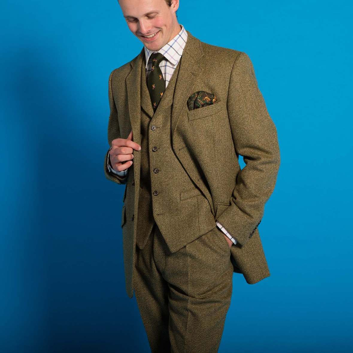 Firley Herringbone Tweed Suit