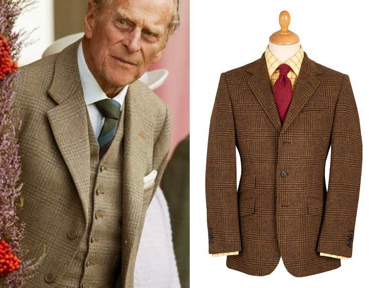 Prince Philip wearing a tweed jacket