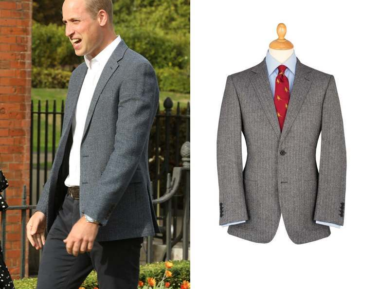 Prince William wearing a tweed blazer