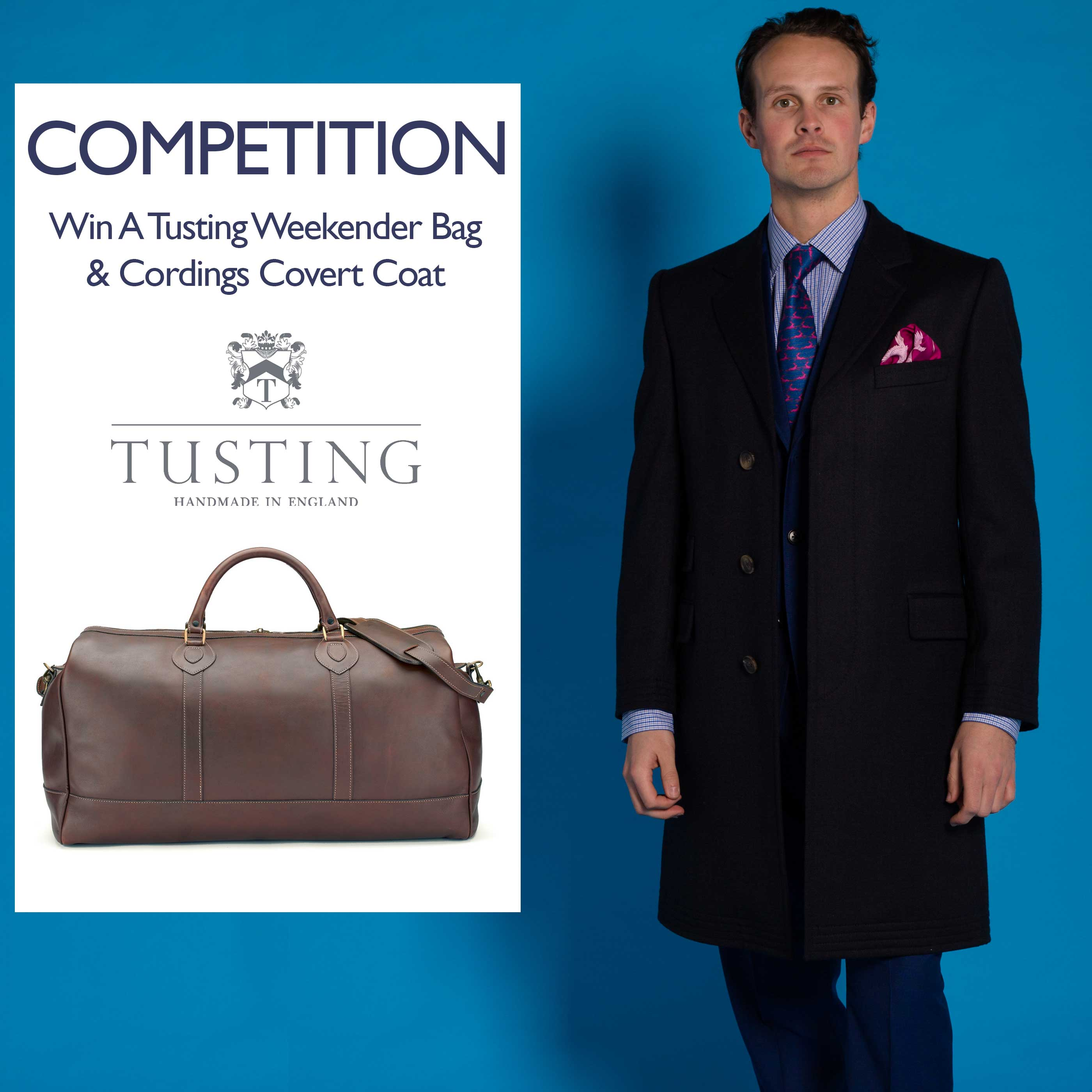 Win a Cordings coat and a Tusting Weekender Bag
