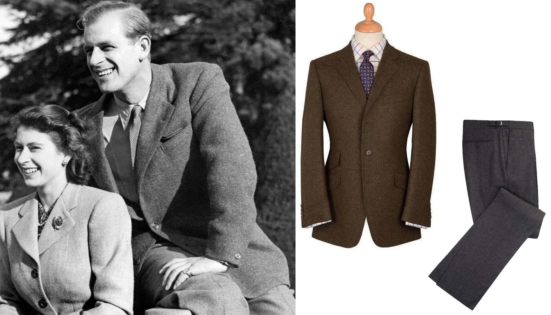 Prince Philip. An early example of the Duke's easy elegance, relaxed but smart, a classic British look.