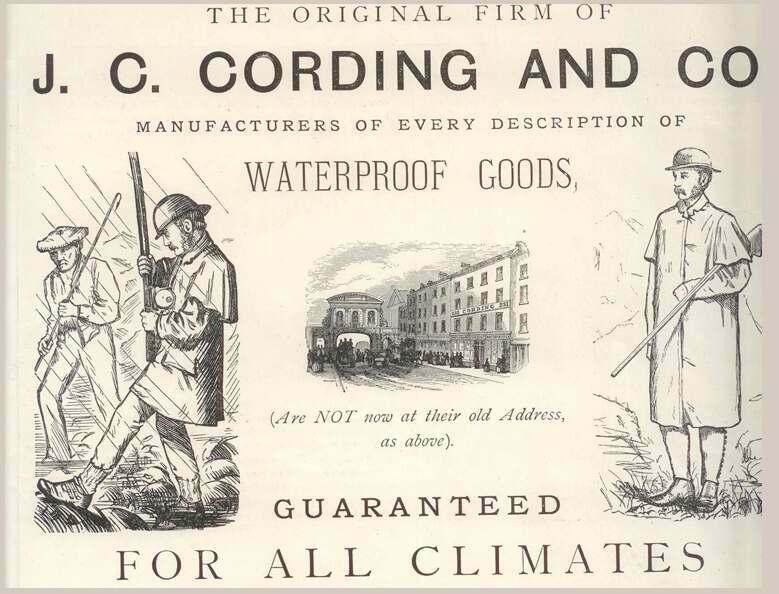 Cordings Early Advertisement